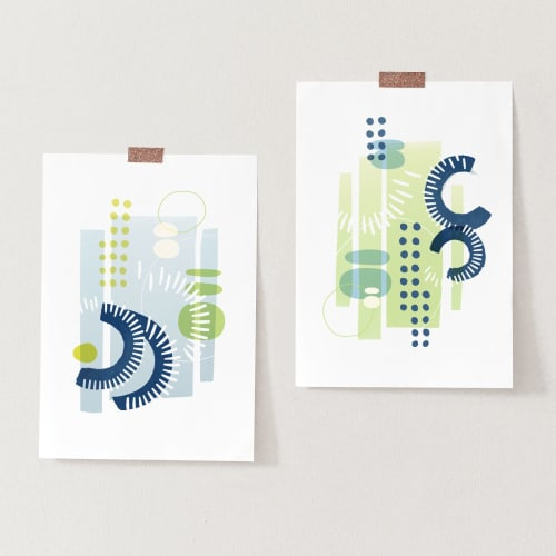 Paintings by Michael Grace & Co seen at Seattle, WA, Seattle - Rhythm & Rhyme Series — 2 Print Set