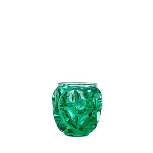 Vases & Vessels by Lalique seen at LALIQUE - Rue Royale, Paris - Tourbillons Small Vase - Mint Crystal