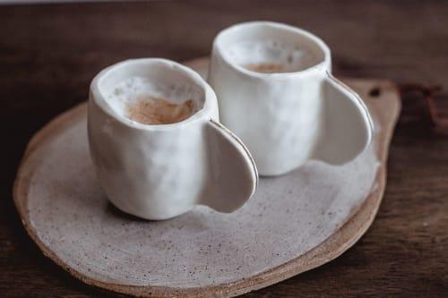 Espresso Cups - Set of  - White4 | Cups by Cóte García Ceramics