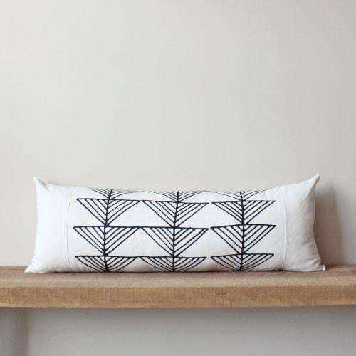 Arrows   Organic Cotton Lumbar Pillow   Pillows by Little Korboose