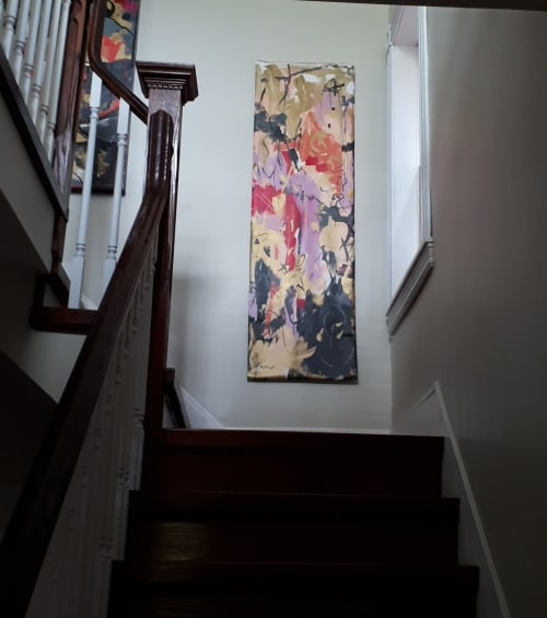 Paintings by Joyce Fournier seen at Private Residence, Toronto - I Think It's Raining Flowers Painting