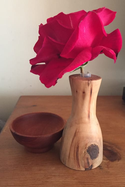 Vases & Vessels by Angie Burbank Woodworking seen at Private Residence, Helena - Red Oak Bud Vase