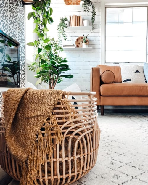 Furniture by Parker Gwen seen at Holly | Calling All Creators - Rattan Baskets