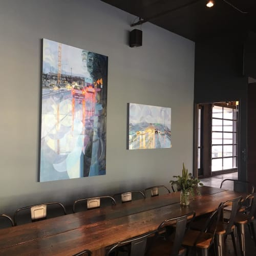 Paintings by Shawn Demarest seen at Clarklewis Restaurant, Portland - Oil Painting