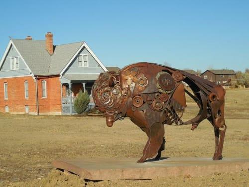 Public Sculptures by Donald Gialanella at Northglenn area, Northglenn - Bison