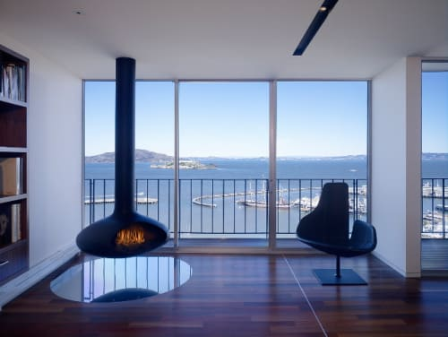 Fireplaces by Fireorb seen at Private Residence, San Francisco - Fireorb