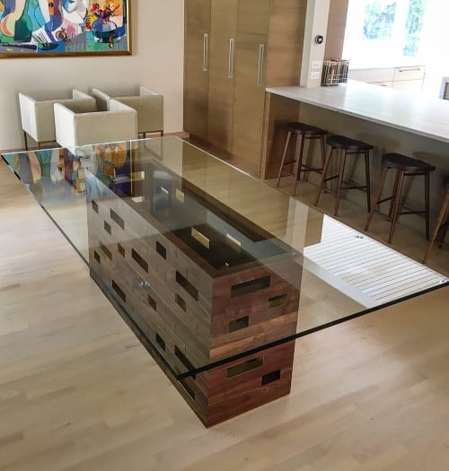 Tables by Rohan Ward at Private Residence, Winnetka - Missing Brick