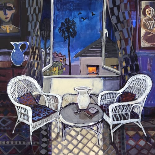 Paintings by Christine Webb seen at Private Residence - Summer Night
