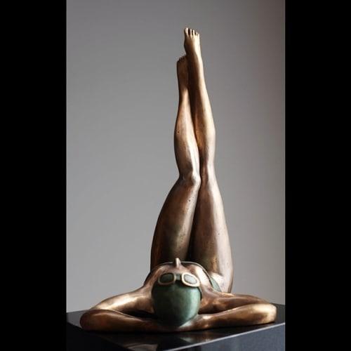 Public Sculptures by Ignacio Gana seen at Hollywood, Los Angeles - Relax