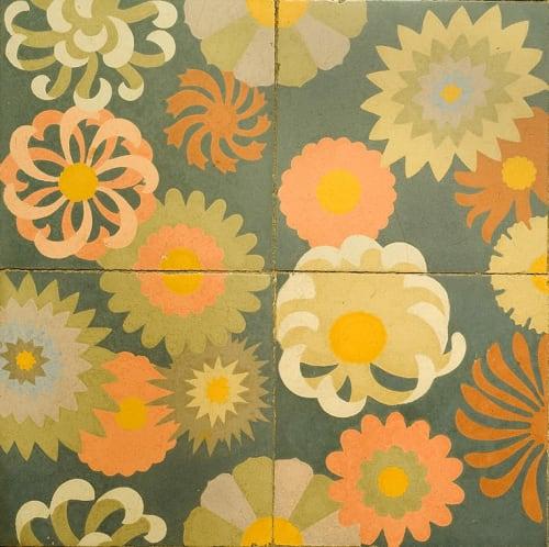Tiles by Huguet Mallorca seen at Can Prunera, Sóller - Can Prunera, by Luis A. Corral