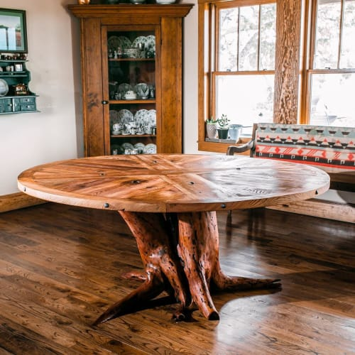 Tables by Joint Venture Woodworks seen at Private Residence, New Braunfels - Abide
