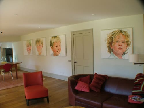 Paintings by Kim Hart. Portraitist. seen at Private Residence, Bath - Kim Hart
