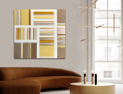Paintings by Linnea Heide contemporary fine art seen at Asheville, Asheville - 'HARVEST' original abstract painting by Linnea Heide