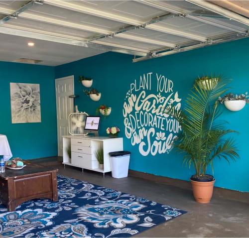 "Murals by Sam Soper — Art & Illustration seen at Private Residence, Austin - ""Plant Your Own Garden"" Hand-lettering Mural"