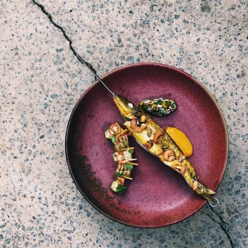 Ceramic Plates by Valerie Restarick seen at Atlas Dining, South Yarra - Ceramic Plates