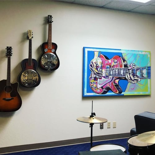Paintings by Trent Thompson seen at Private Residence, Livermore - Guitarist