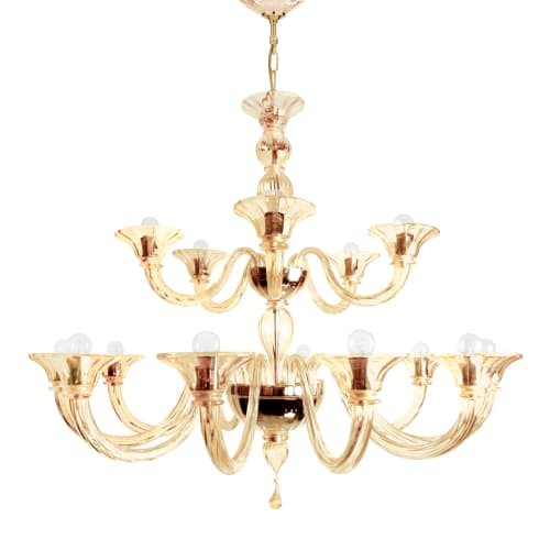 Lighting Design by VILLAVERDE London seen at Private Residence, London - Eleganza Murano Chandelier, Mension Apartment - London