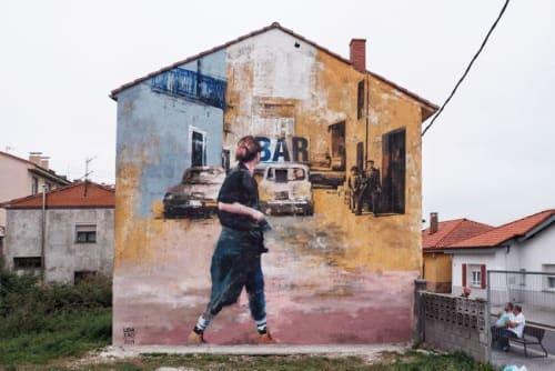 Street Murals by Udatxo seen at Calle de los Rosales, 7, Valencia - BAR GUILLEN
