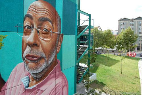"""Street Murals by MrDheo seen at Porto, Porto - """"Porto Nobre e Leal"""""""