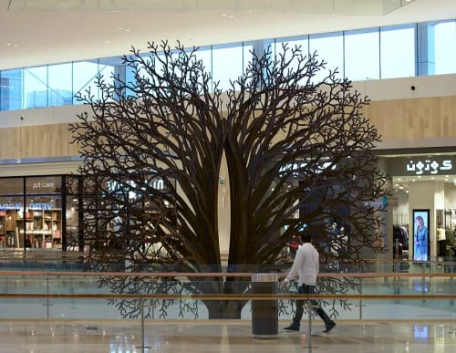 Sculptures by Marco Cianfanelli seen at Yas Mall, Abu Dhabi - Convergent