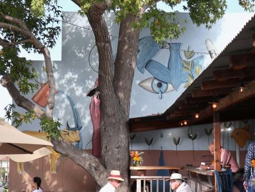 Murals by Natalie Bessell seen at Pannikin La Jolla, San Diego - Common Ground