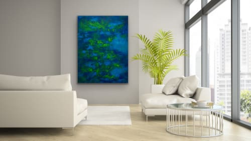 """Paintings by Kim Hernandez Fine Art seen at Creator's Studio, Coral Gables - """"Depth Over Distance"""" original painting by Kim Hernandez"""