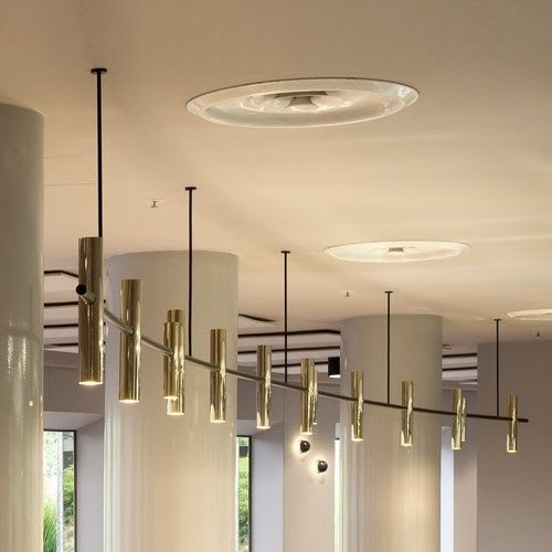 Lighting by Giffin Design seen at Arts Centre Melbourne, Melbourne - Curve Bar Light