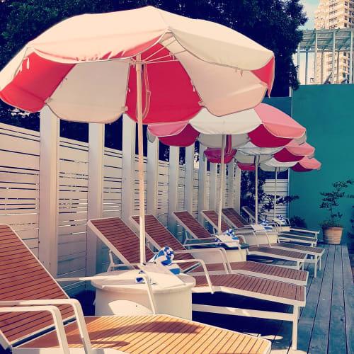 Furniture by Basil Bangs seen at The Island Gold Coast, Surfers Paradise - Beach Umbrella