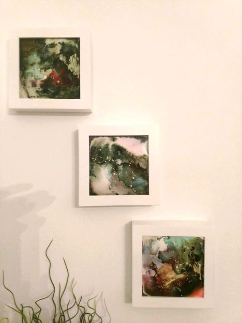 Paintings by The Mink Gallery at Private Residence, Ithaca - Happy paintings
