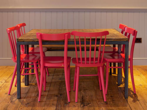 Tables by Treeslounge seen at The Paxton, London - Dining Furniture and Light Fittings