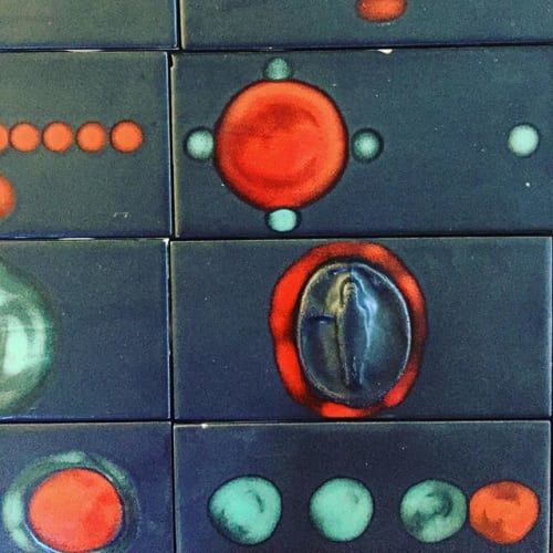 Tiles by Lisa Neimeth Ceramics at Private Residence, Abiquiu - objects tile