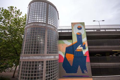 Street Murals by Mots seen at Leeuwarden, Leeuwarden - Myśl