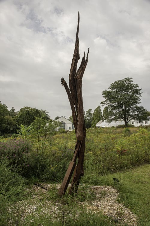 "Public Sculptures by John Ruppert seen at Ladew Topiary Gardens, Monkton - Cherry Tree Strike   39°36'24.3""N  76°42'54.4""W / Lightning Strike Series"