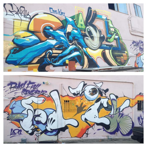 "Street Murals by Greg ""Craola"" Simkins seen at Torrance, Torrance - Wall Mural"