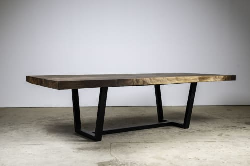 Tables by Kristopher Kirkpatrick seen at Private Residence, Palm Springs - Desert Flower : Black Walnut Dinign Table
