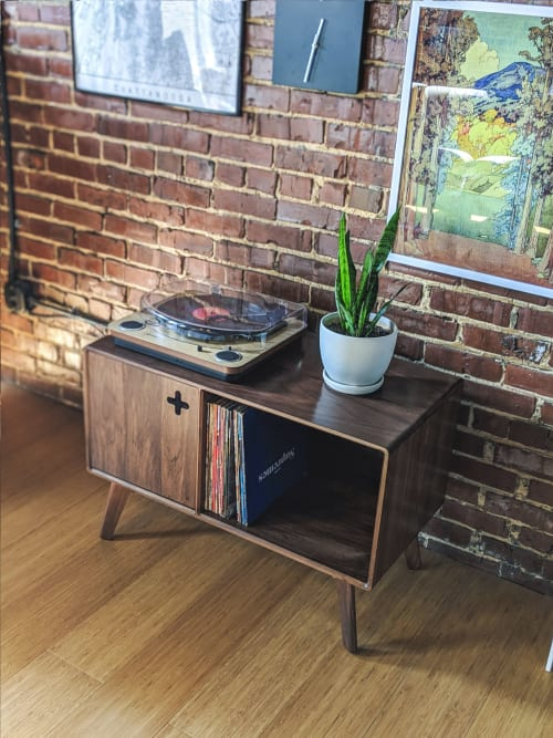 Furniture by Max Moody Design seen at Private Residence, Chattanooga - Record Player Stand Plus / Record Player Cabinet