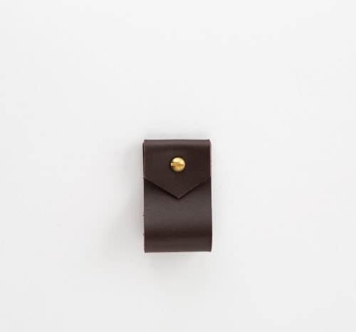 Hardware by Keyaiira   leather + fiber seen at Private Residence, Santa Rosa - Small Wide Leather Wall Strap