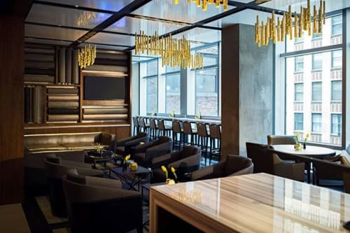 Chandeliers by ILANEL DESIGN STUDIO seen at Renaissance New York Midtown Hotel, New York - Rain Light Drops