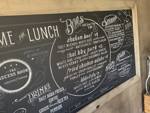 Murals by Paper Cliché seen at The Recess Room, Fountain Valley - The Recess Room Menu