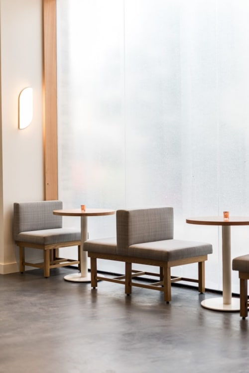 Furniture by Brothers Of Industry seen at 189 by Dominique Ansel, Los Angeles - Tables and Cabinetry