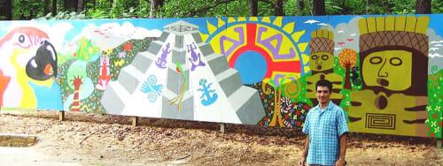 Murals by Gus Lina Fine Art seen at Shady Valley Park, Atlanta - Deep Roots