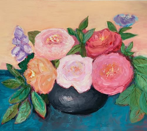 Paintings by Lisa Butters - Roses and Abstract