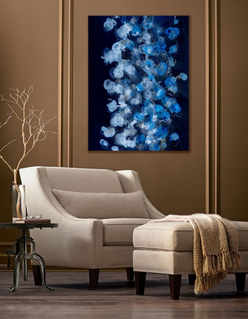 Paintings by Christina Twomey Art + Design seen at Private Residence, Los Angeles - JELLYFISH