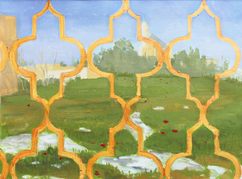 Paintings by Abraham Storer seen at Private Residence, Jerusalem - Oil paintings on paper (series)
