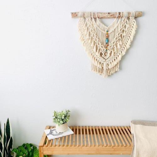 Macrame Wall Hanging by Love & Fiber seen at Private Residence, San Diego - Fringe Beads