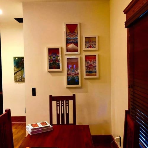 Paintings by Rich M Stevens seen at Private Residence, Seattle - Acrylic Paintings