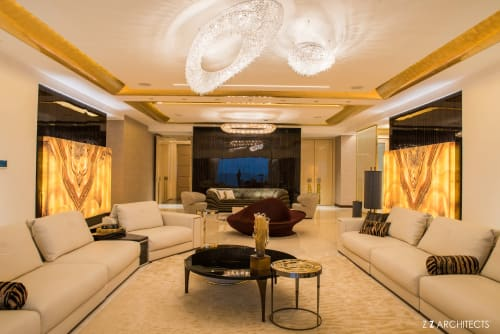 Chandeliers by MANOOI seen at Private Residence, Mumbai - Artica