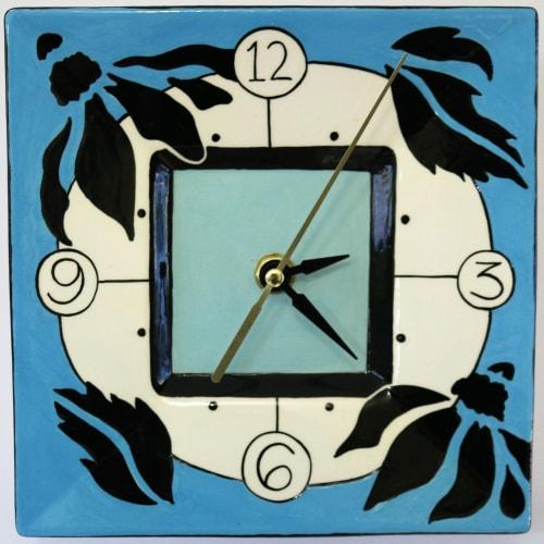 Interior Design by Glaze Ceramics seen at Private Residence, Inverloch - Ceramic Clock
