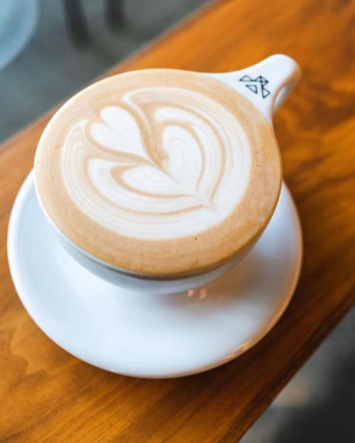 Cups by notNeutral seen at Jubala Coffee, Raleigh - Custom LINO Latte Cup