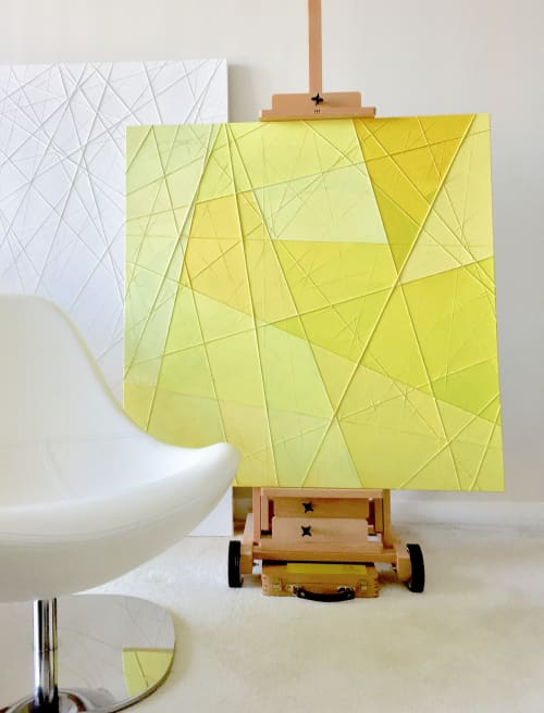 Paintings by sorayart - sorayacaballero seen at Private Residence, Vancouver - Light color lemon
